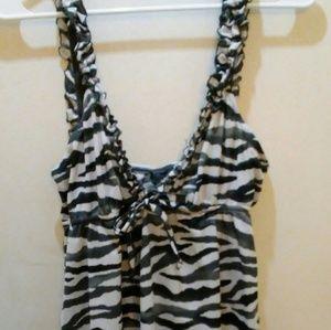 Zebra print chemise!